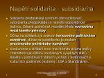 nap t solidarita subsidiarita