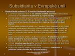 subsidiarita v evropsk unii