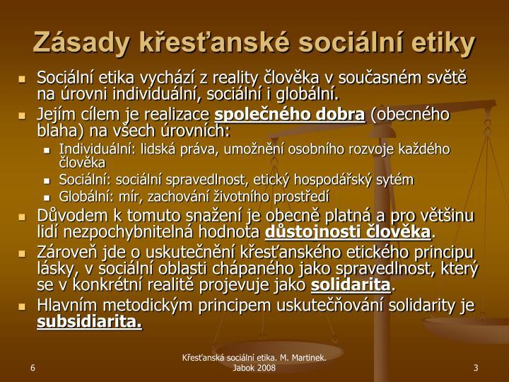 Zásady křesťanské sociální etiky