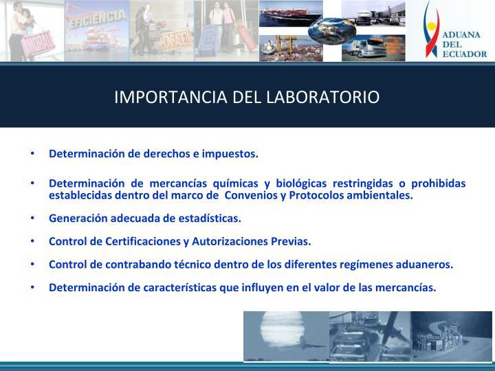 IMPORTANCIA DEL LABORATORIO