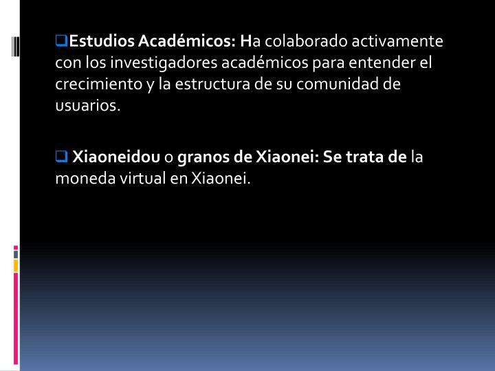 Estudios Académicos: