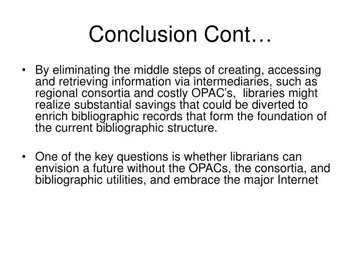 Conclusion Cont…