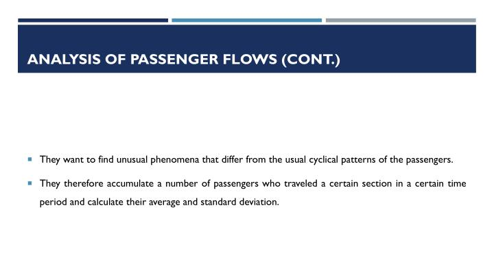 ANALYSIS OF PASSENGER