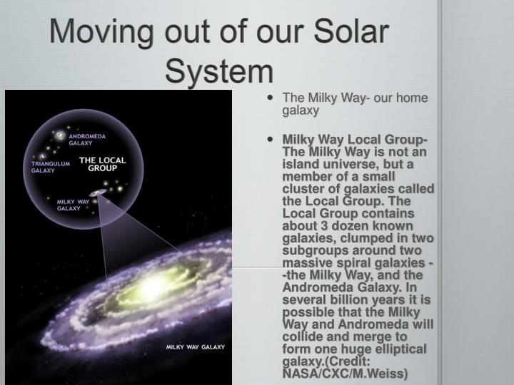 Moving out of our Solar System