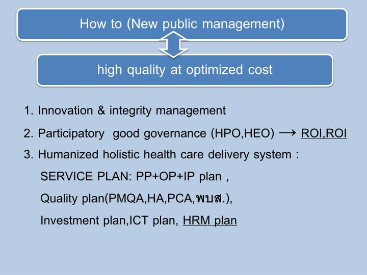 How to (New public management)