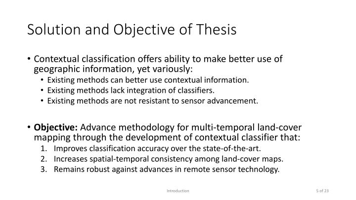 Solution and Objective of Thesis