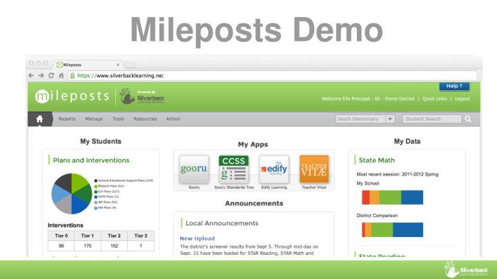 Mileposts Demo