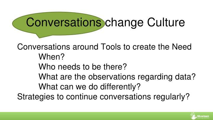 Conversations change Culture
