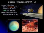 cassini huygens 1997