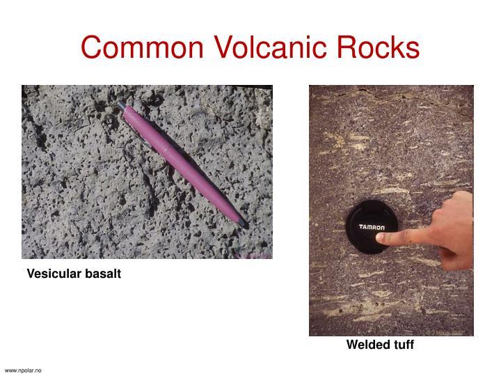 Common Volcanic Rocks