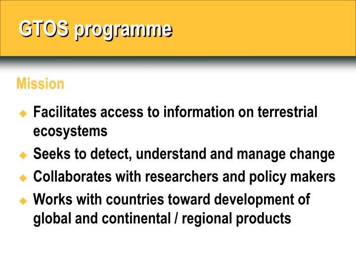 GTOS programme