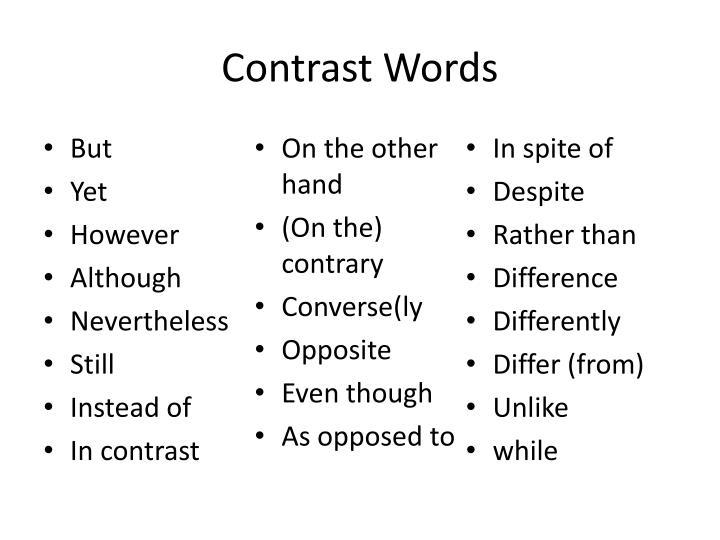 Contrast Words