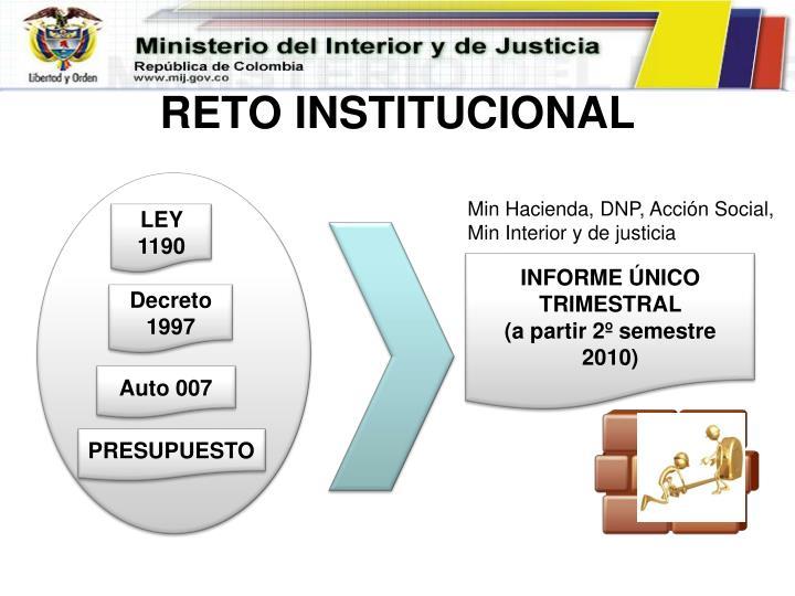 RETO INSTITUCIONAL
