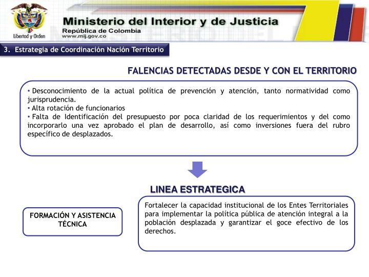 Fortalecer la capacidad institucional de los Entes Territoriales para implementar la política pública de atención integral a la población desplazada y garantizar el goce efectivo de los derechos.