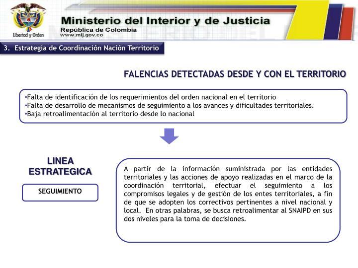 3.  Estrategia de Coordinación Nación Territorio