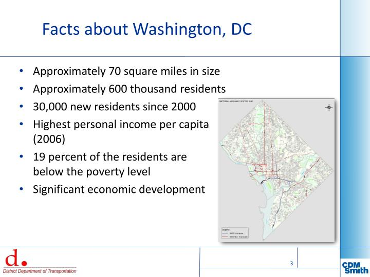 Facts about washington dc