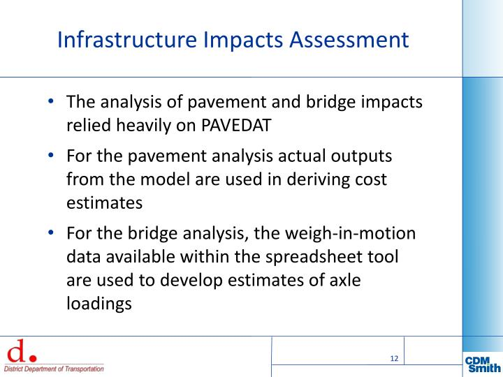 Infrastructure Impacts Assessment