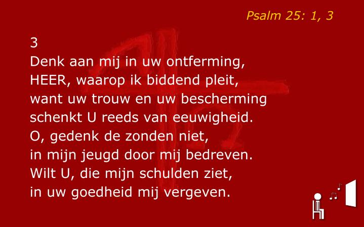 Psalm 25: 1, 3