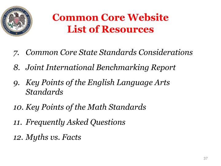 Common Core Website