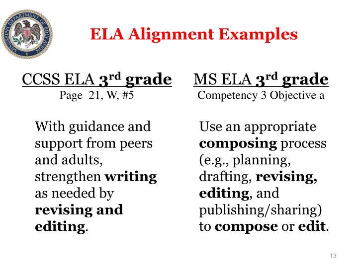 ELA Alignment Examples