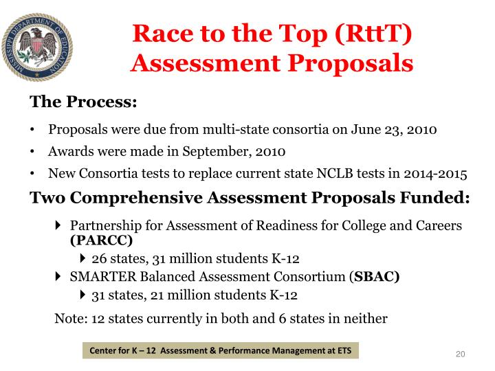 Race to the Top (RttT) Assessment Proposals