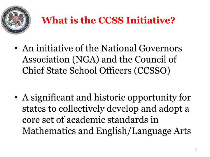 What is the CCSS Initiative?