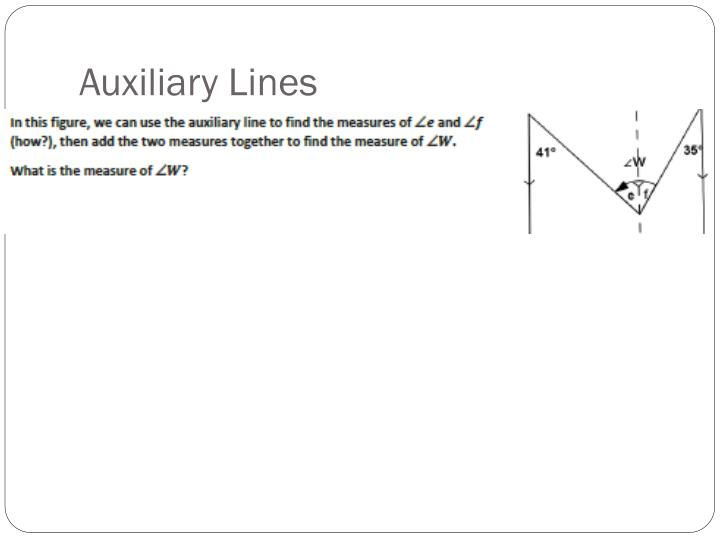 Auxiliary Lines