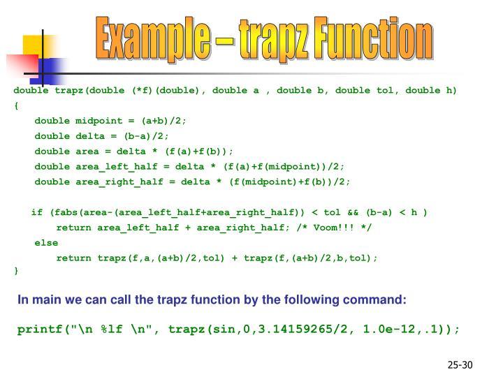 Example – trapz Function