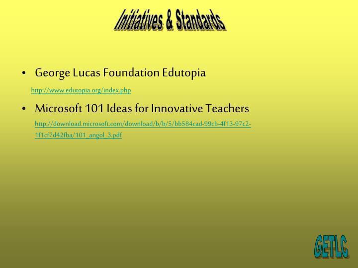 Initiatives & Standards