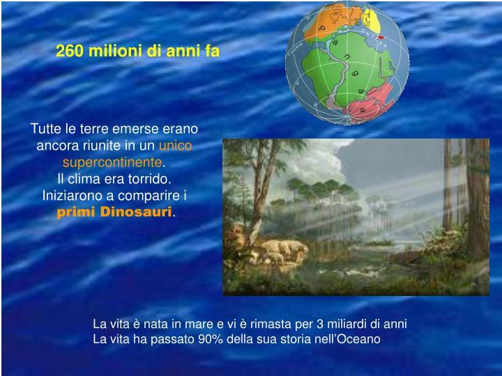 260 milioni di anni fa