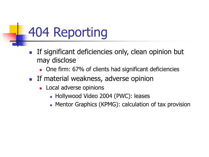 404 Reporting