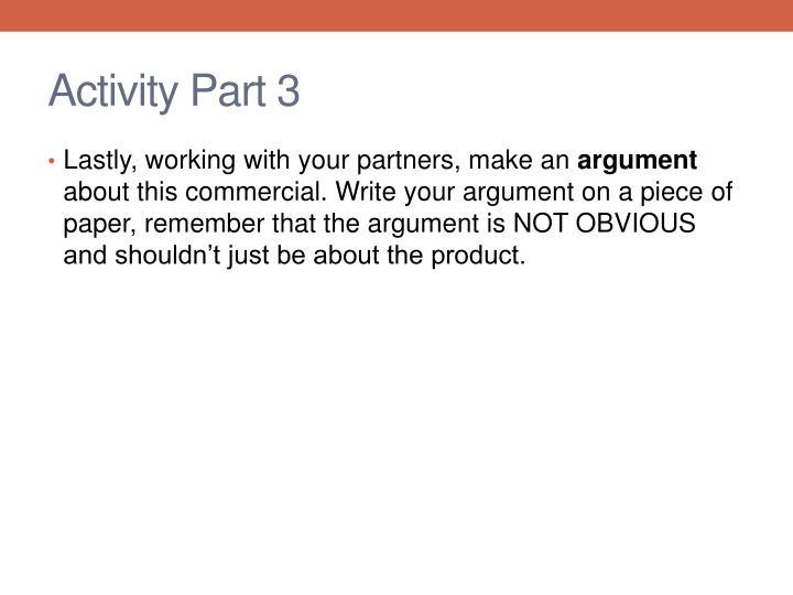 Activity Part 3