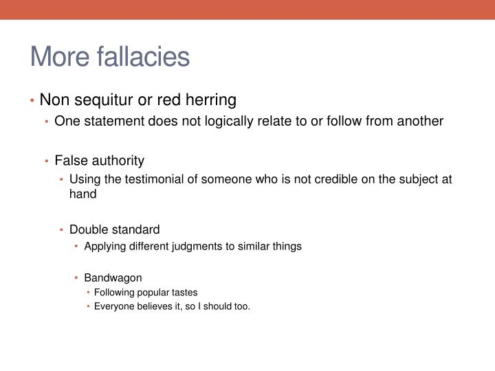 More fallacies