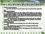 lateral external rotation