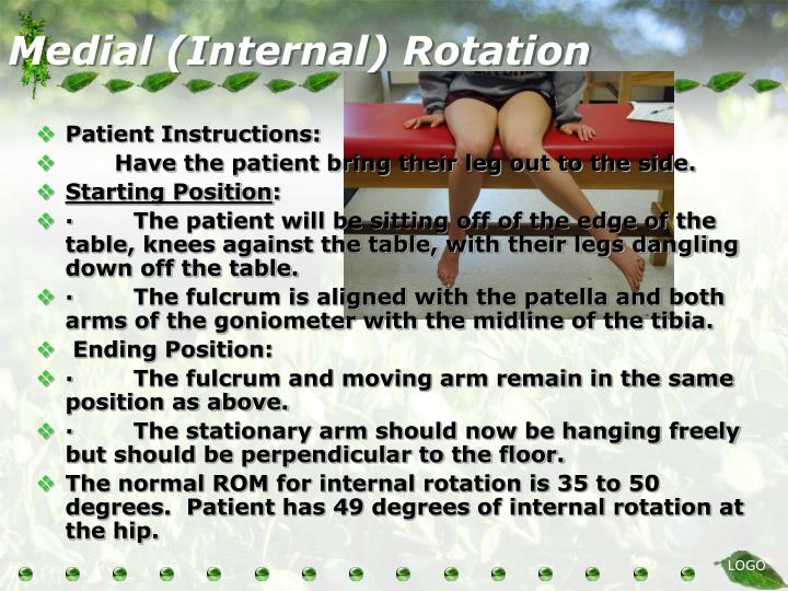 Medial (Internal) Rotation