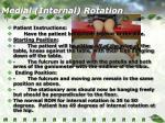 medial internal rotation