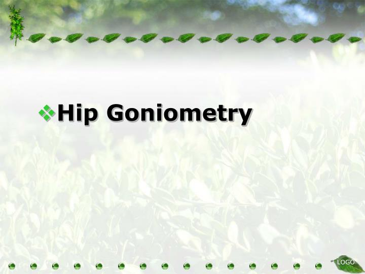 Hip Goniometry