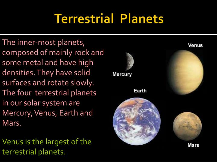 which planets are terrestrial - photo #23