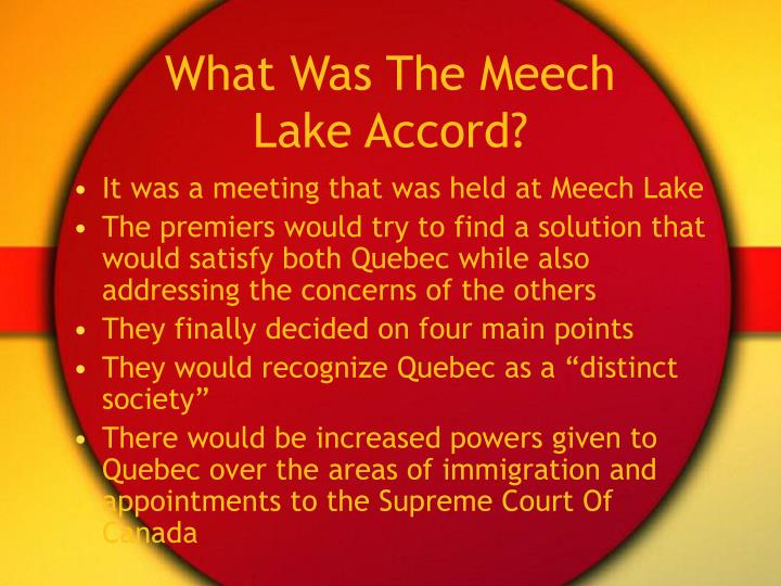 What Was The Meech Lake Accord?