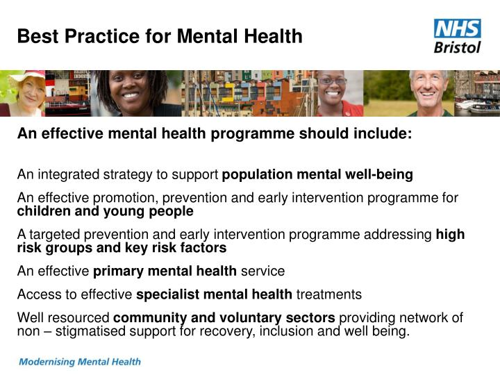 Best Practice for Mental Health