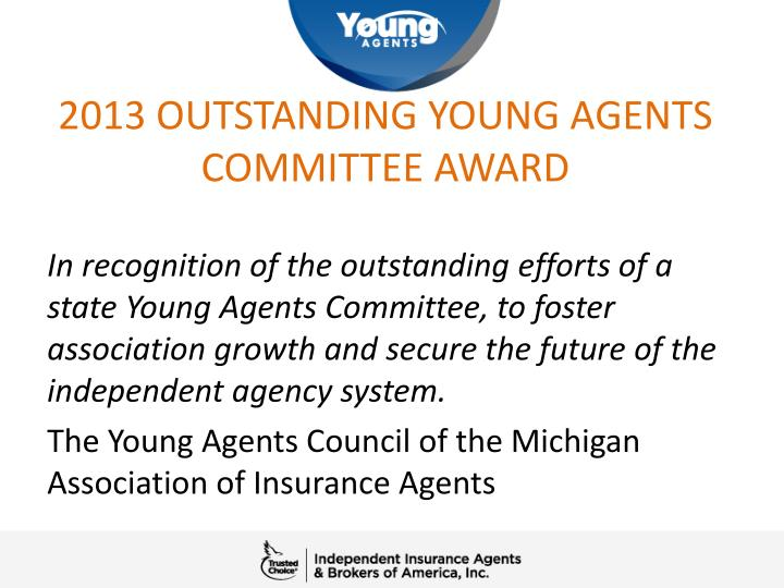 2013 outstanding young agents committee award1