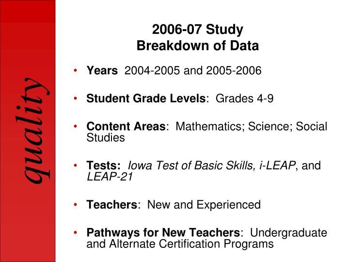 2006-07 Study