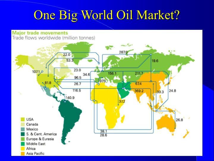 One Big World Oil Market?