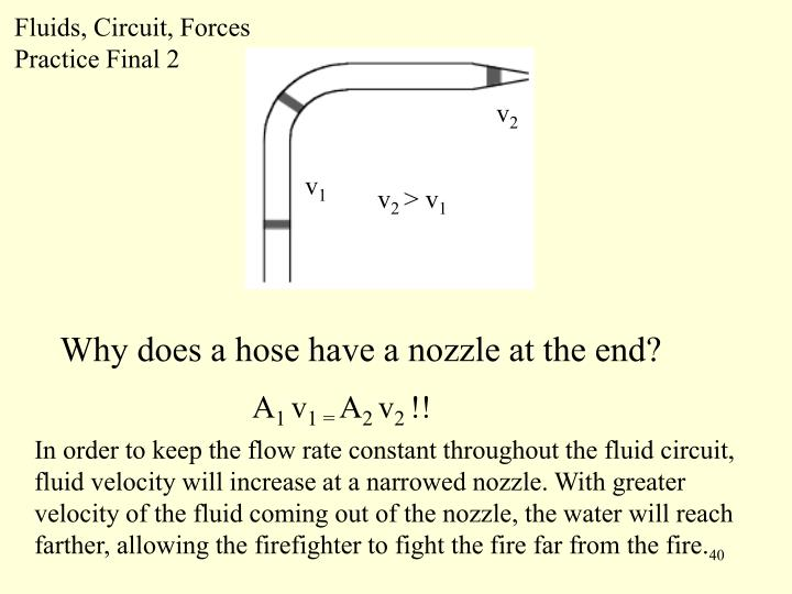 Fluids, Circuit, Forces Practice Final 2