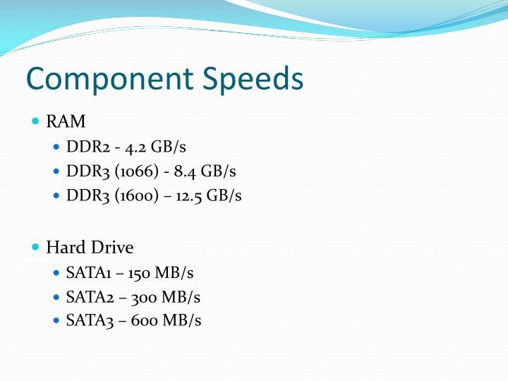Component Speeds
