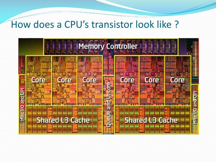 How does a CPU's transistor look like ?