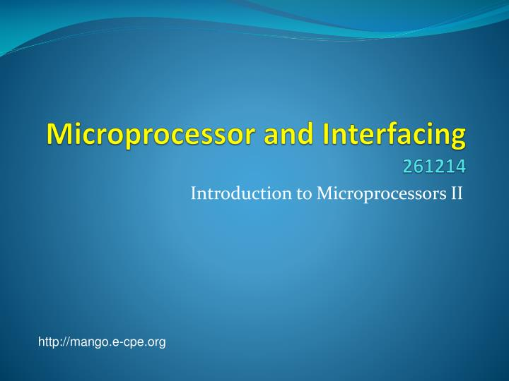 Microprocessor and interfacing 261214