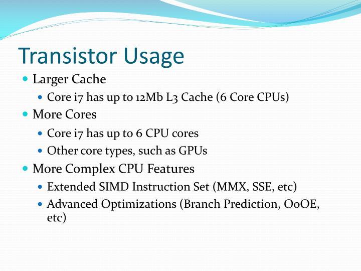 Transistor Usage