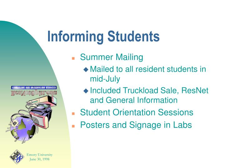 Informing Students