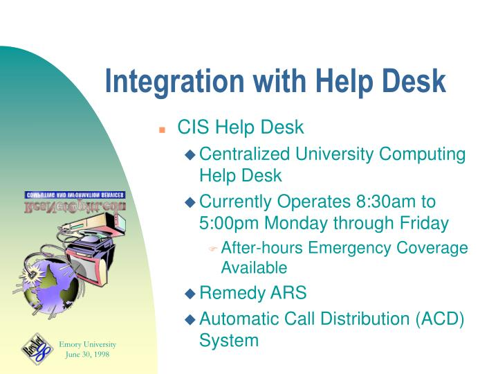 Integration with Help Desk